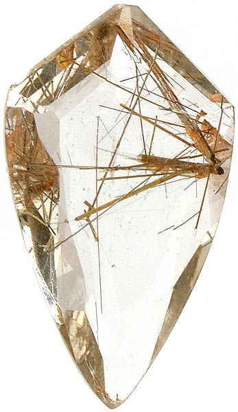 Fine Cut Rutilated Quartz Shape (Price Per Piece)