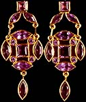 Fine Faceted Amethyst Post Earrings with Dangle