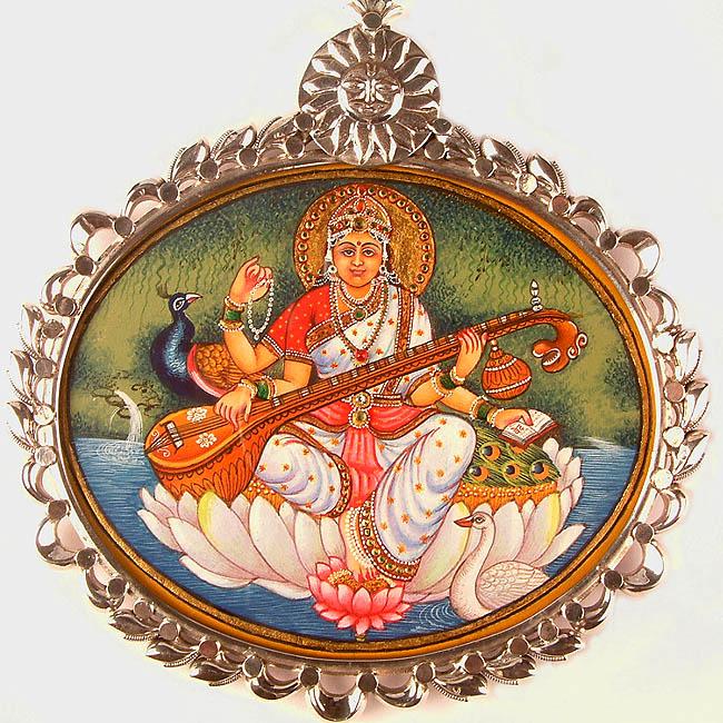images of goddess saraswati. Goddess Saraswati Pendant
