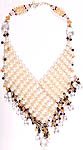 Gemstone Necklace (Pearl, Garnet, Crystal and Citrine)
