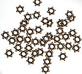 Gold Plated Star Beads<br>(Price Per Four Pieces)