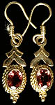 Handcrafted Earrings with Fine Cut Pink Tourmaline