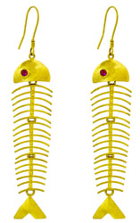 Dangling Fish Earrings