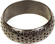 Black Lattice Bangle