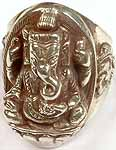 Lord Ganesha (Sterling Ring)