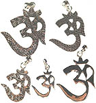 Lot of Five Om (AUM) Pendants