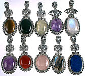 Lot of Ten Oval Pendants