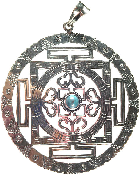Mandala Pendant with Central Turquoise
