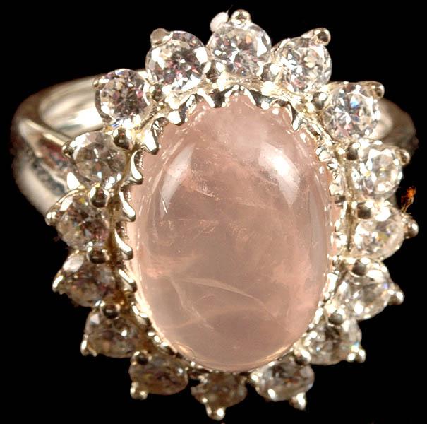 Rose Quartz Ring India