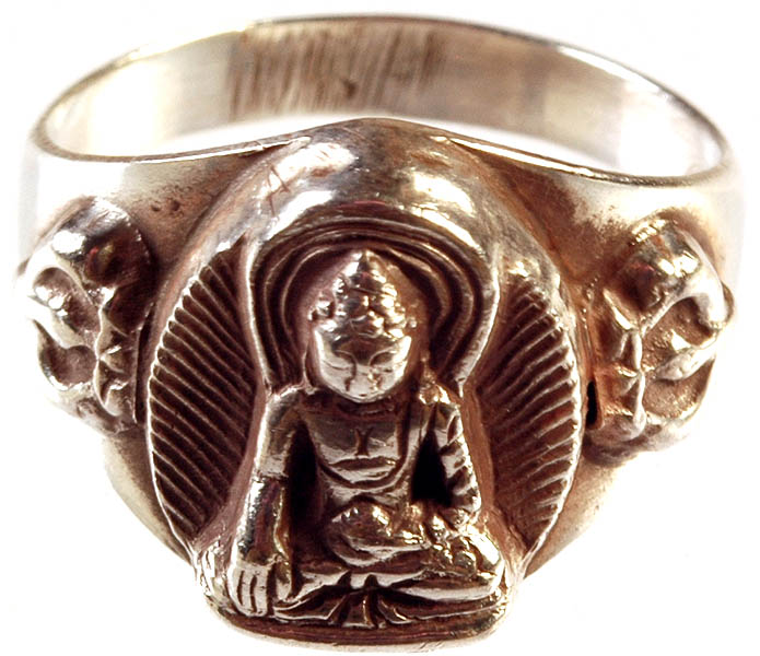 sterling buddha ring