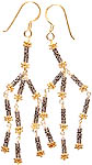 Sterling Gold Plated Filigree Earrings
