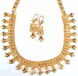 Sterling Gold Plated Necklace from Jaipur with Matching Earrings