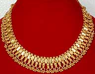 Sterling Gold Plated Necklace from Rajasthan