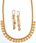 Sterling Gold Plated Necklace from Ratangarhi with Matching Earrings