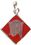 Tibetan Om (AUM) Inlay Rhombus Pendant
