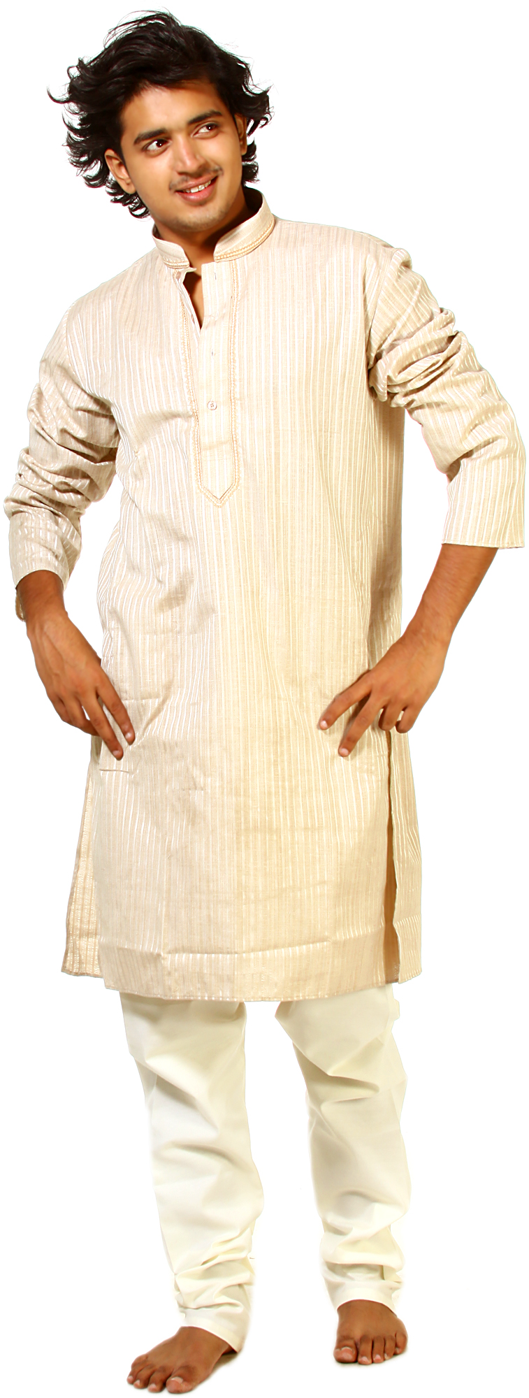 CandiedGinger Kurta Pajama With Embroidery On Neck And