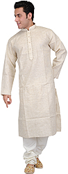 Kurta Pajama with Thread Embroidery on Neck