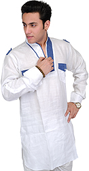 Designer Men's Kurta with Front Pockets
