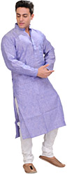 Plain Kurta with White Pajama Set