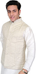 Turtledove-Colored Waistcoat with Straight Stitch