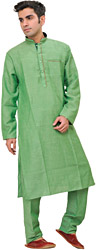 Plain Kurta Pajama with Front Pocket