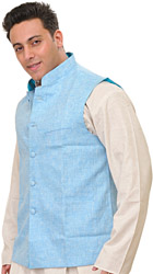 Plain Pure Linen Modi Jacket