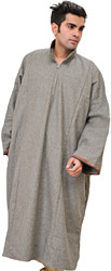 Wild-Dove Pure Wool Phiran from Kashmir with Front Zipper