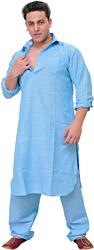 Plain Pathani Kurta Pajama Set