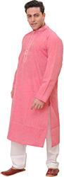Plain Kurta Pajama with Thread Imbroidery