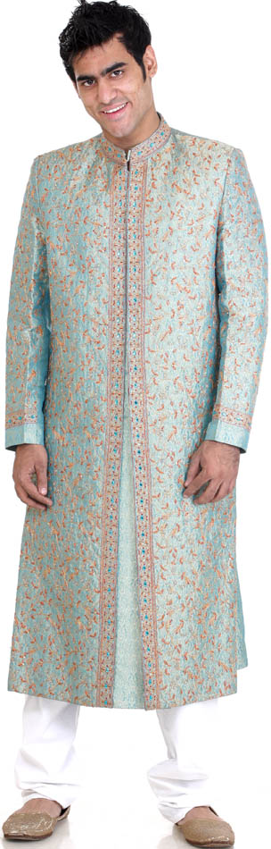 Wedding Sherwani with AllOver MultiColor Embroidery sherwani wedding