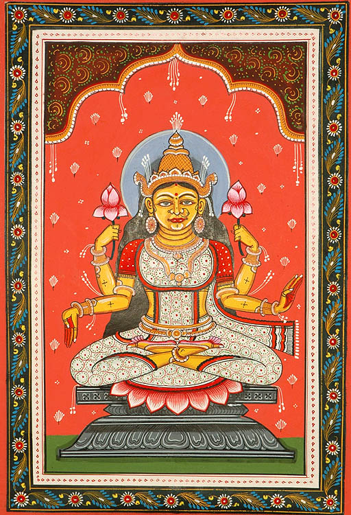 Goddess Kamala - The Lotus Goddess (Ten Mahavidyas)