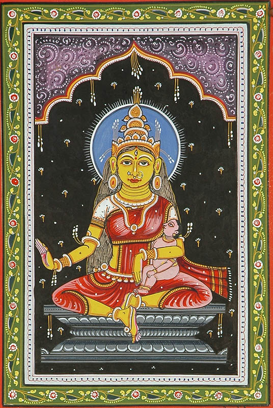 Goddess Savitri (Shodash Matrikas)