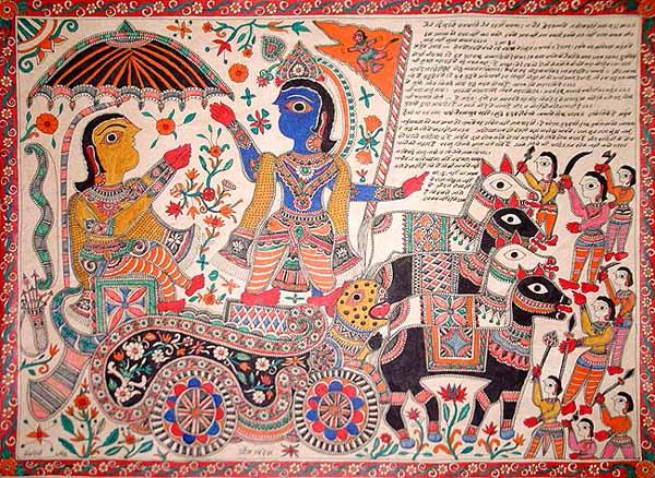 Krishna Delivering Gita-Sermon