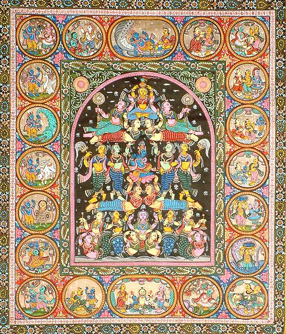 Krishna on the Kandarpa Ratha (Chariot of Love)