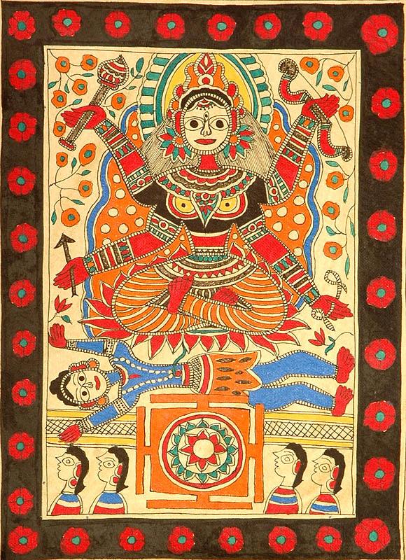 Mahavidya Shodashi with Yantra