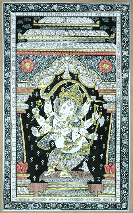 Dancing Ganesha with Eight Arms