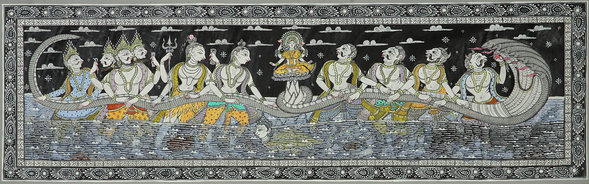 samudra manthan coloring pages - photo#19