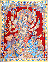 Eight-armed Mahishasuramardini Goddess Durga