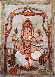 Four-Armed Seated Ganesha