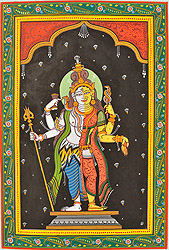 Ardhanarishvara (Shiva and Durga)