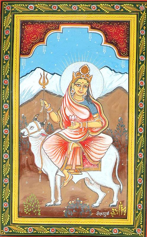 SHAILAPUTRI Navadurga (The Nine Forms of Goddess Durga)