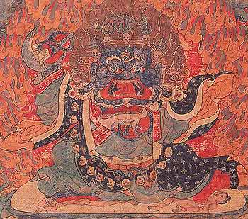 Mahakala of the Black Cloak, Tibet
