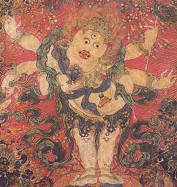 White Mahakala in Tribhanga, Central Tibet