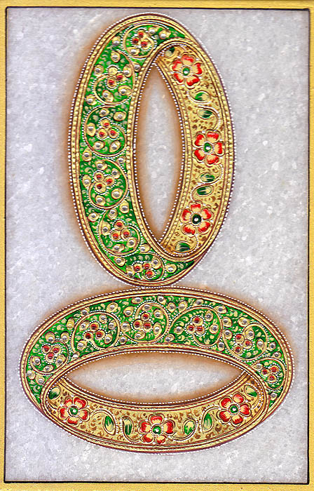 Pair of Bangles (Embossed Painting)