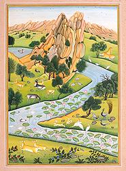 A Scene of Aravali Hills