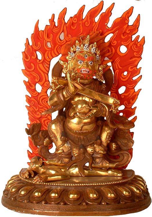 The Supreme Savior of the Essentially Nomadic Tibetan People (The Fundamental Form of Mahakala)