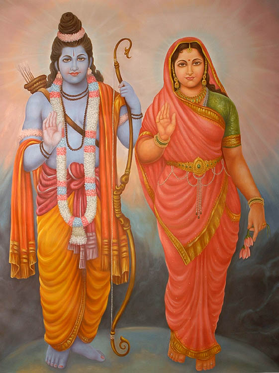 rama and sita. Goddess Sita and Lord Rama