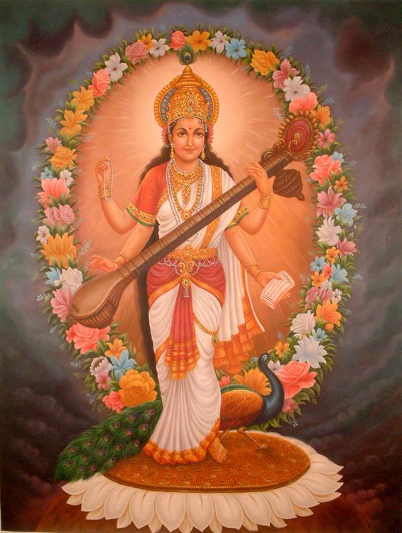images of goddess saraswati. Goddess Saraswati