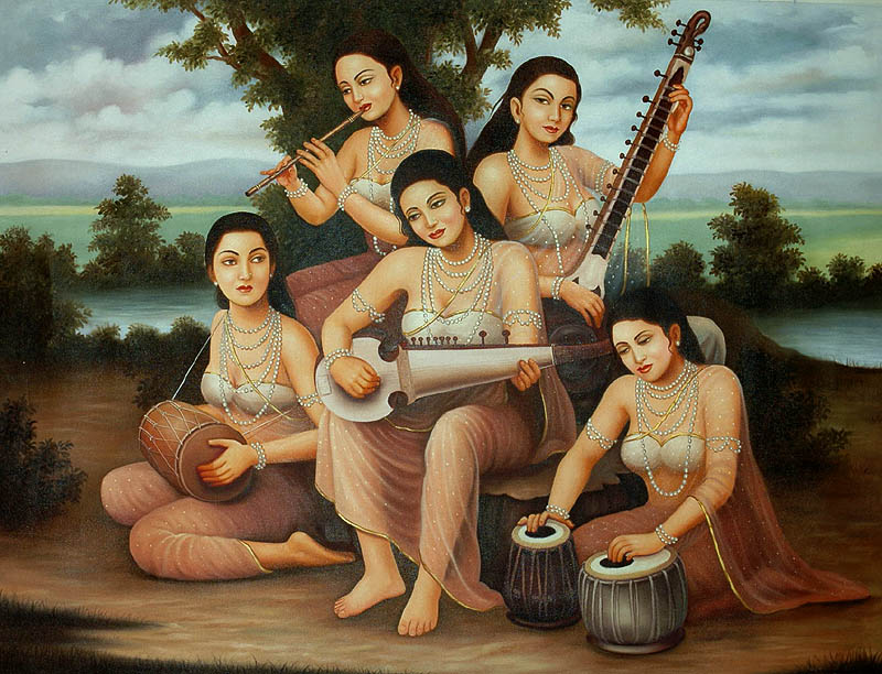Modern Day Gopis in Musical Concert at Vrindavan