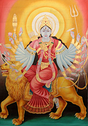 Eighteen-armed Goddess Durga